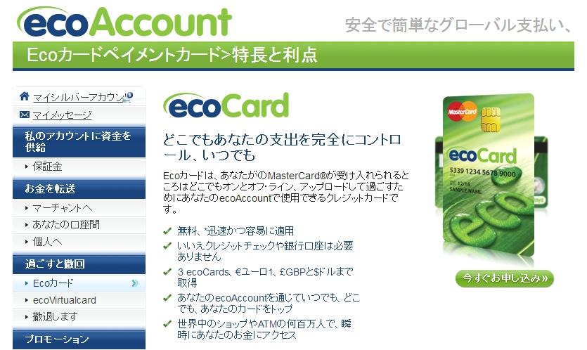 エコペイズのサイト画面の写真