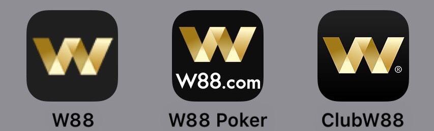 W88カジノスマートフォンアプリの画面