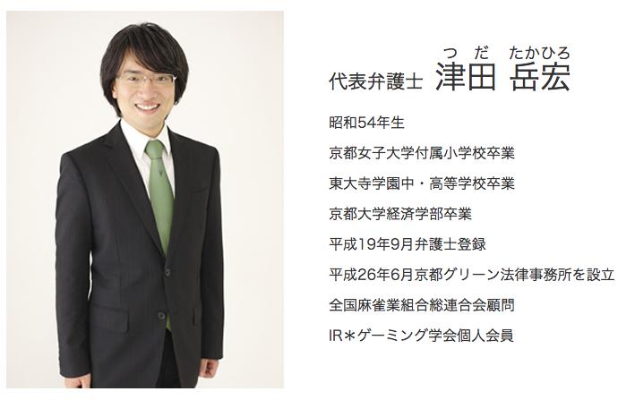弁護士津田先生の写真